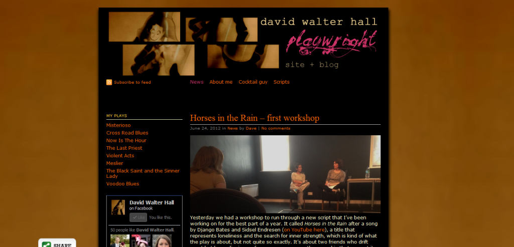 David Walter Hall · playwright